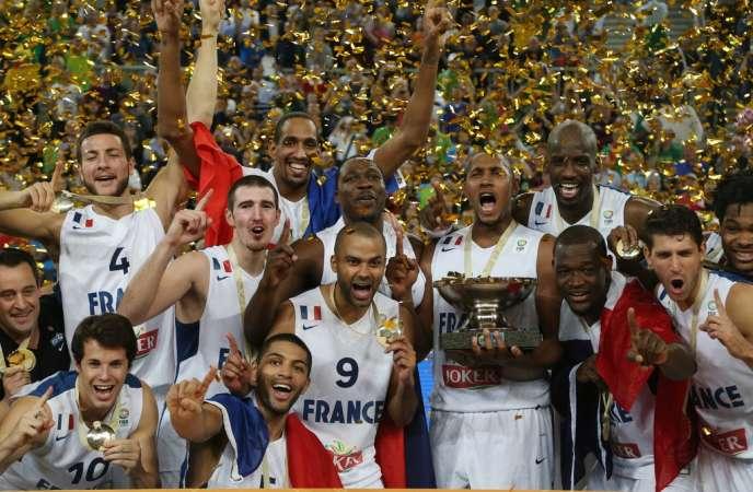 L'équipe de France a remporté le premier grand titre de son histoire en battant la Lituanie (80-66) en finale de l'Euro-2013, dimanche 22 septembre à Ljubljana (Slovénie).