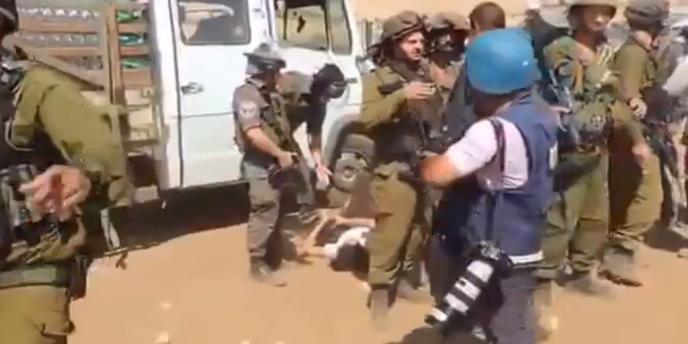 Extrait de la vidéo montrant l'incident avec Marion Fesneau-Castaing.