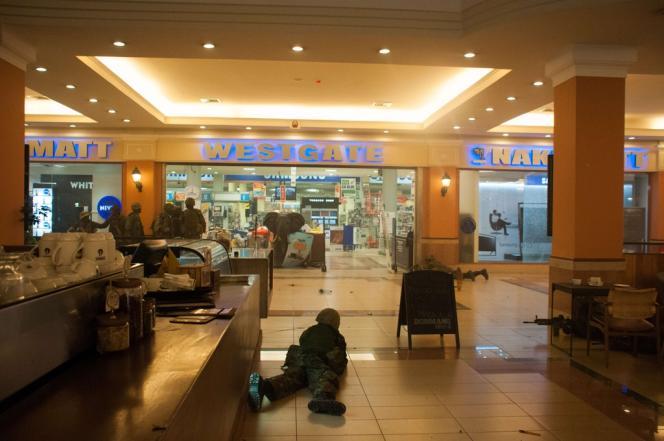 Dans le mall Westgate, à Nairobi, le 21 septembre.
