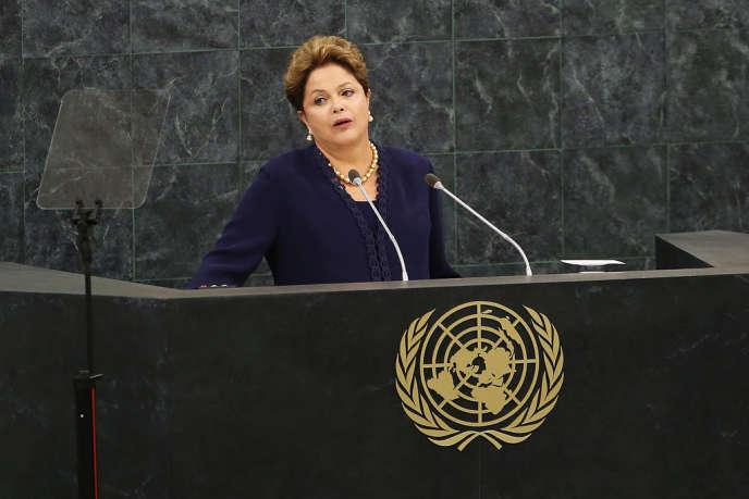 Dilma Roussef, la président brésilienne, à la tribune de l'ONU, le 24 septembre.