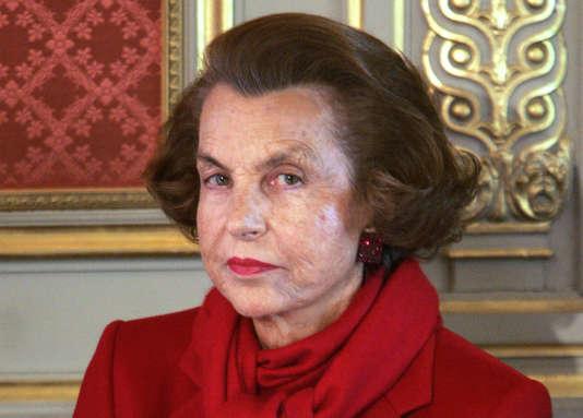 Liliane Bettencourt à l'Elysée en avril 2005.