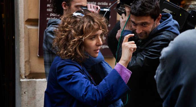 Valeria Golino sur le tournage de son film