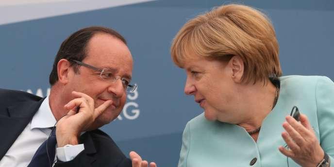 François Hollande et Angela Merkel lors du G20 à Saint-Pétersbourg, le 6 septembre.