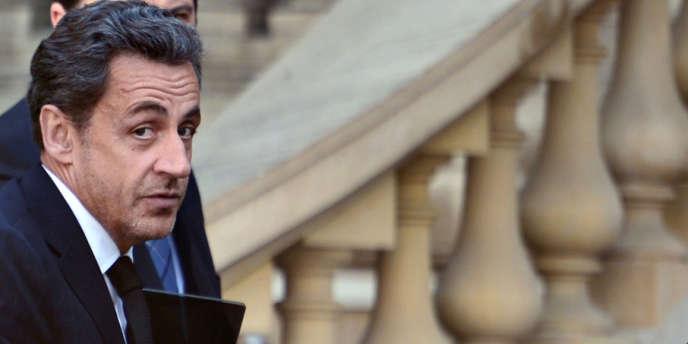 Nicolas Sarkozy le 25 mars, à Paris.