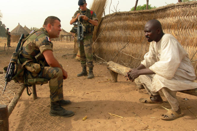Un soldat français en République centrafricaine, en mars 2013.