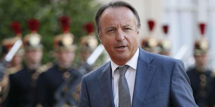 Jean-Pierre Bel, le président du Sénat, le 3 septembre 2013 à l'Elysée.