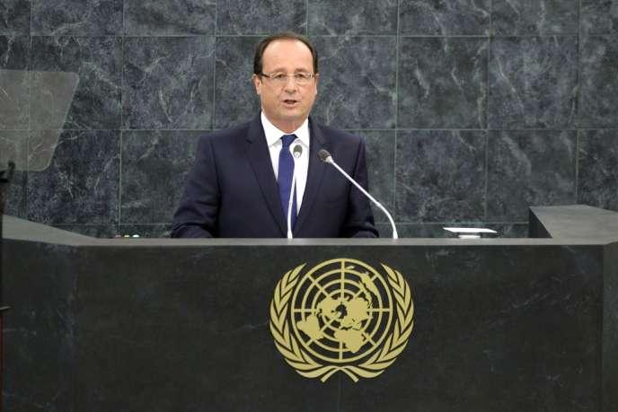 Discours de François Hollande lors de la 68e assemblée générale de l'ONU, le 24 septembre, à New York.
