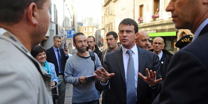 Le ministre de l'intérieur, Manuel Valls, le 21 septembre à Rodez.