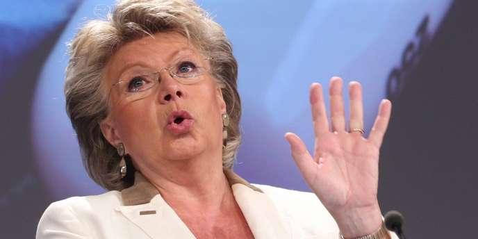 Viviane Reding, vice-présidente de la Commission chargée de la justice et des droits fondamentaux.