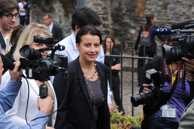 Cécile Duflot lors des journées parlementaires d'Europe Ecologie-Les Verts, à Angers, le 26 septembre.