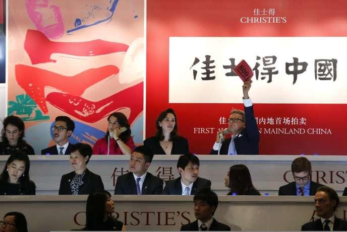 L'institution, aujourd'hui propriété de la famille Pinault, a fait pour la première fois son entrée sur le marché chinois.