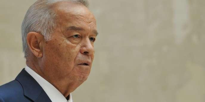 Islam Karimov au Kirghizistan, le 13 septembre.