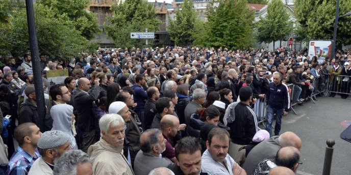 Rassemblement contre l'islamophobie, le 22 juin 2013, après l'agression d'une jeune fille à Argenteuil.