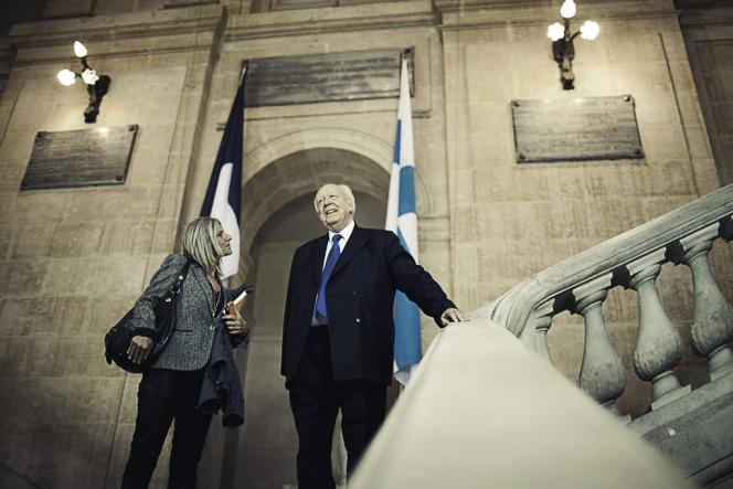 Jean-Claude Gaudin, lors de l'inauguration, le 19 septembre, d'un immeuble  dans le 2e arrondissement de Marseille.