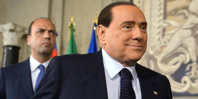 Silvio Berlusconi et Angelino Alfano, vice-premier ministre et membre du Parti de la liberté, en avril dernier à Rome.