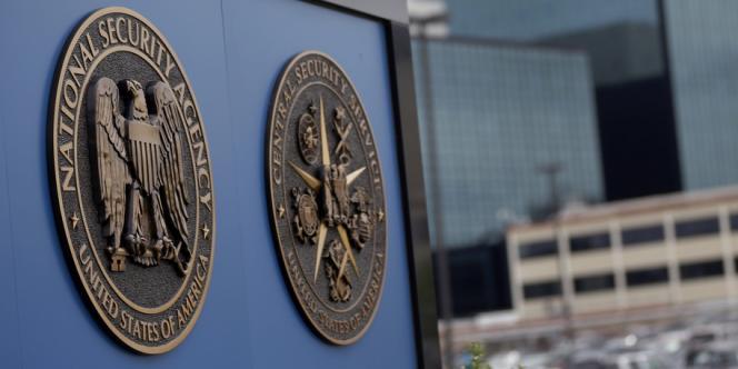 Logo de la NSA aux Etats-Unis.