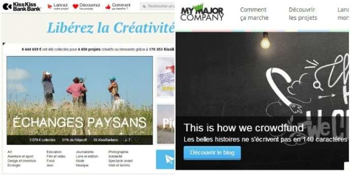 KissKissBankBank, My Major Company, Tous Coprod, Ulule : les sites de crowdfunding se multiplient pour financer les initiatives artistiques et entrepreneuriales.