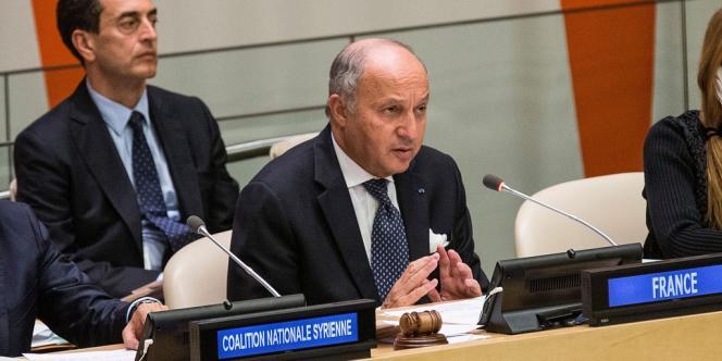 Laurent Fabius, le 26 septembre au Conseil de sécurité de l'ONU à New York.