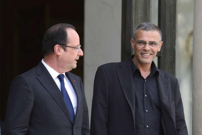 François Hollande et Abdellatif Kechiche à l'Elysée, le 26 juin 2013.
