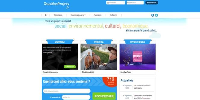 Tousnosprojets.fr, la plateforme en ligne de BPIFrance qui recense les projets à financer disséminés sur les différentes plateformes de crowdfunding.