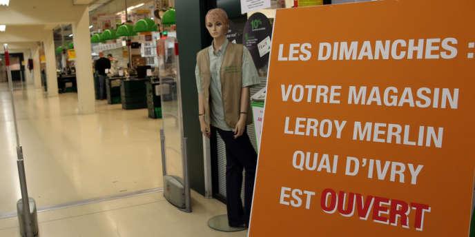Un magasin Leroy-Merlin ouvert le dimanche 29 septembre 2013.