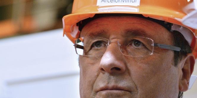 François Hollande visite le site de Florange, le 26septembre2013.