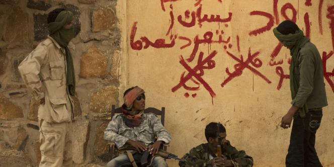 Des rebelles du MNLA, le 26 juillet à Kidal.