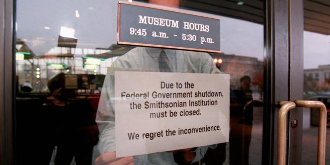 Fermeture du musée de l'air de Washington.