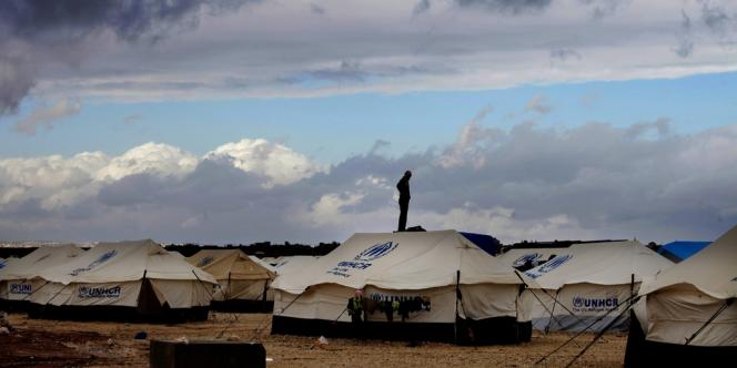 Camp de réfugiés syriens à Mafraq, en Jordanie.