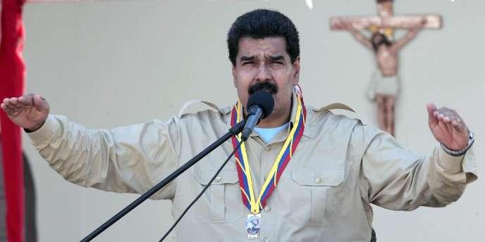 Nicolas Maduro, lors d'un discours le 30 septembre.