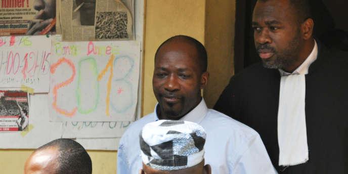 Charles Blé Goudé, lors de son arrestation à Abidjan le 30 janvier 2013.