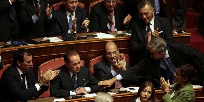 Silvio Berlusconi, le 2 octobre au Sénat.