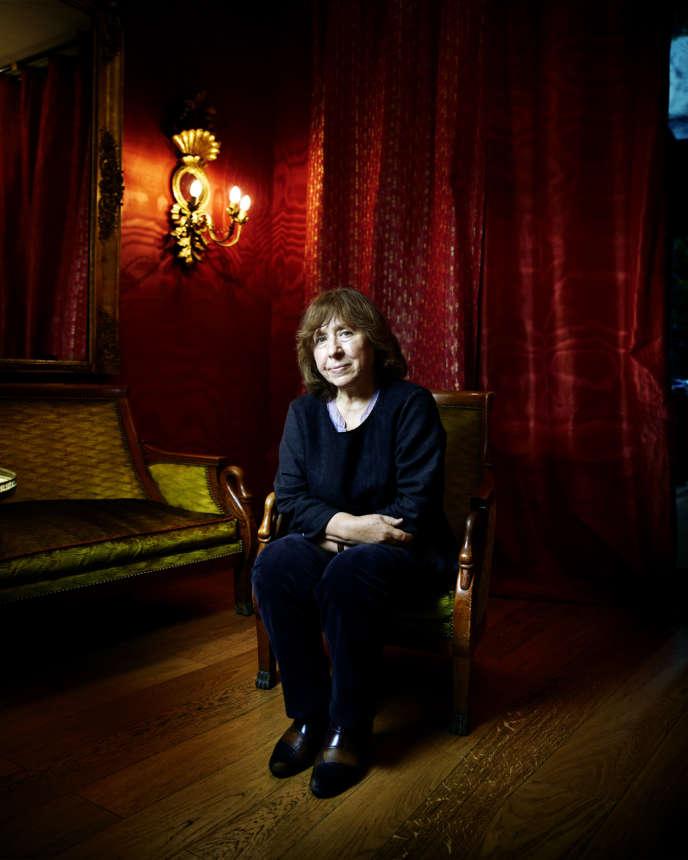 La romancière biélorusse Svetlana Alexievitch.