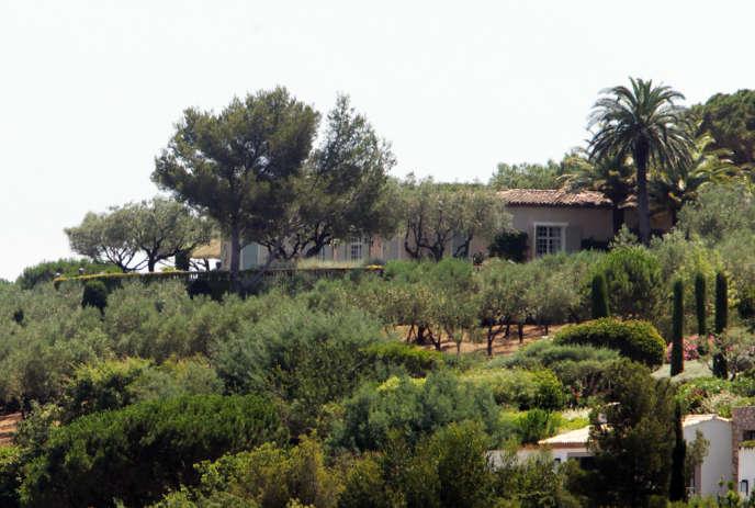« La Mandala », la villa de Bernard Tapie perchée sur une colline tropézienne.