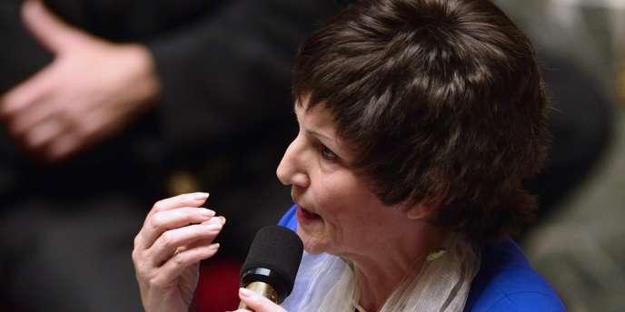 Dominique Bertinotti, la ministre déléguée chargée de la famille, lors des questions au gouvernement à l'Assemblée nationale le 2 octobre.