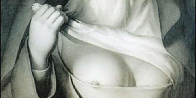 Nonne, de Jean Jacques Lequeu (1793), détail.