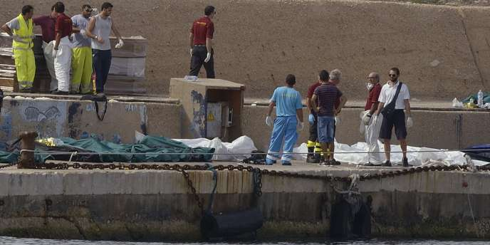 Dans le port de Lampedusa, le 3 octobre.