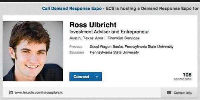Profil LinkedIn de Ross William Ulbricht.