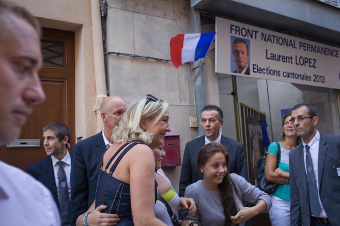 Marine Le Pen à Brignoles, le 27 septembre 2013.