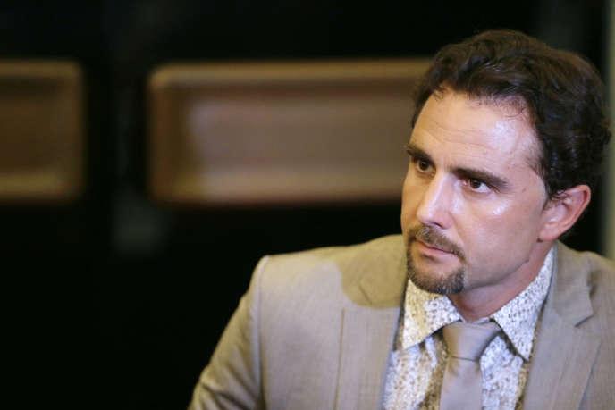 L'ancien informaticien de la banque HSBC Hervé Falciani, en juillet 2013 à l'Assemblée nationale.