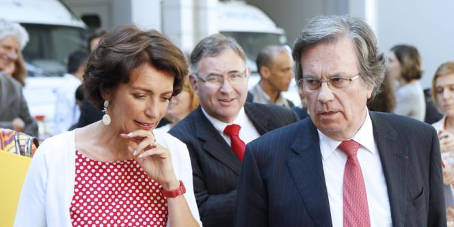 Claude Evin, ici avec la ministre de la santé Marisol Touraine, met en avant une