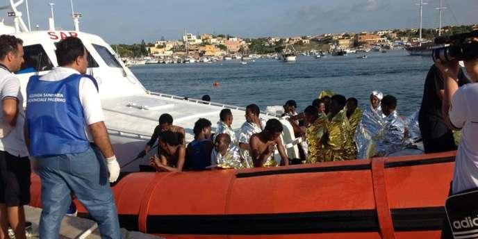 Quelque 150 naufragés ont été sauvés au large de Lampedusa, le 3 octobre.