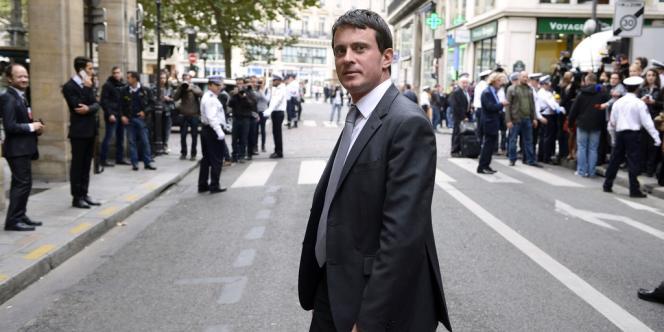 Manuel Valls devant le Conseil constitutionnel, le 3 octobre 2013.