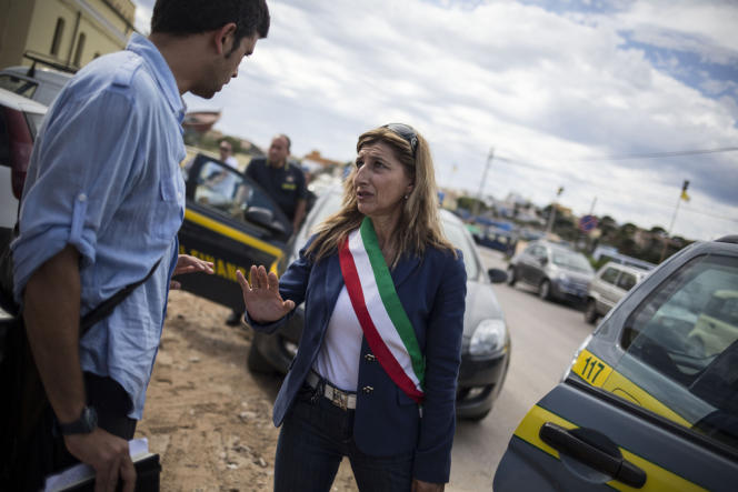 Giusi Nicolini, la maire de Lampedusa.   © Olivier JOBARD / M.Y.O.P.
