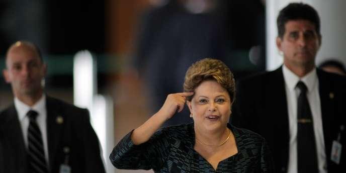 Dilma Rousseff, la présidente du Brésil, à la fin de septembre à Brasilia.