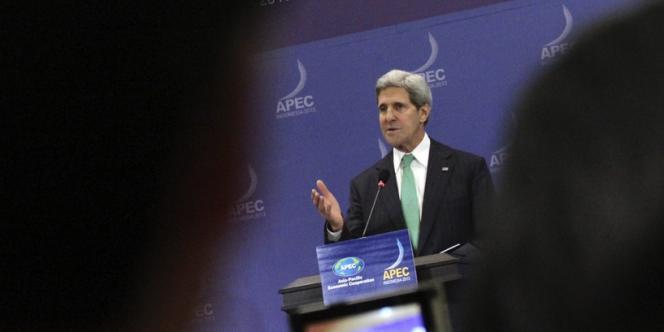John Kerry, le secrétaire d'Etat américain, au sommet de l'APEC à Bali, le 5 octobre.