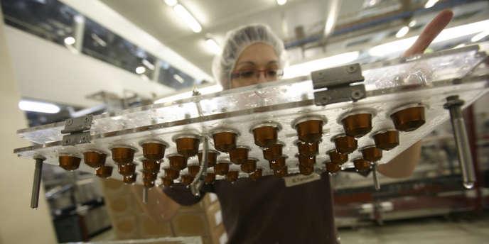 L'usine d'Avenches de Nespresso, dans le canton de Vaud, en Suisse.
