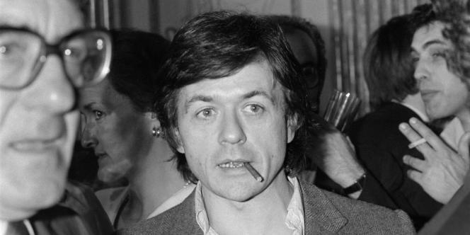 Patrice Chéreau et son cigarillo, en 1983.