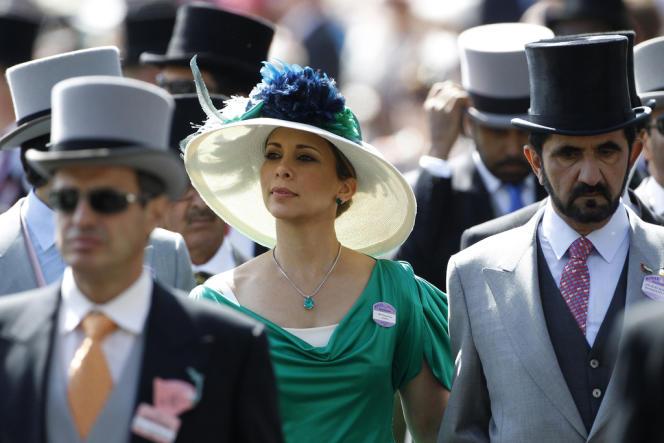 La princesse Haya Bint Al-Hussein et son mari le Cheikh Mohammed bin Rashid Al-Maktoum au Royal Ascot en 2010.