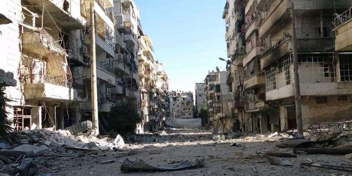 Image du centre d'Alep, lundi 7 octobre.